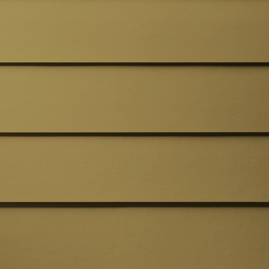 James Hardie HardiePlank Primed Tuscan Gold Smooth Lap Fiber Cement Siding Panel (Actual: 0.312-in x 5.25-in x 144-in)
