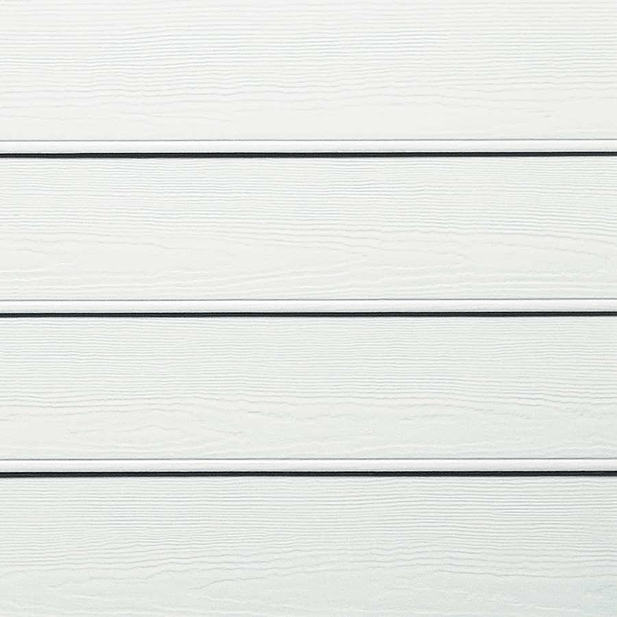 James Hardie (Actual: 0.312-in x 8.25-in x 144-in) HardiePlank Primed Arctic White Beaded Woodgrain Lap Fiber Cement Siding Panel