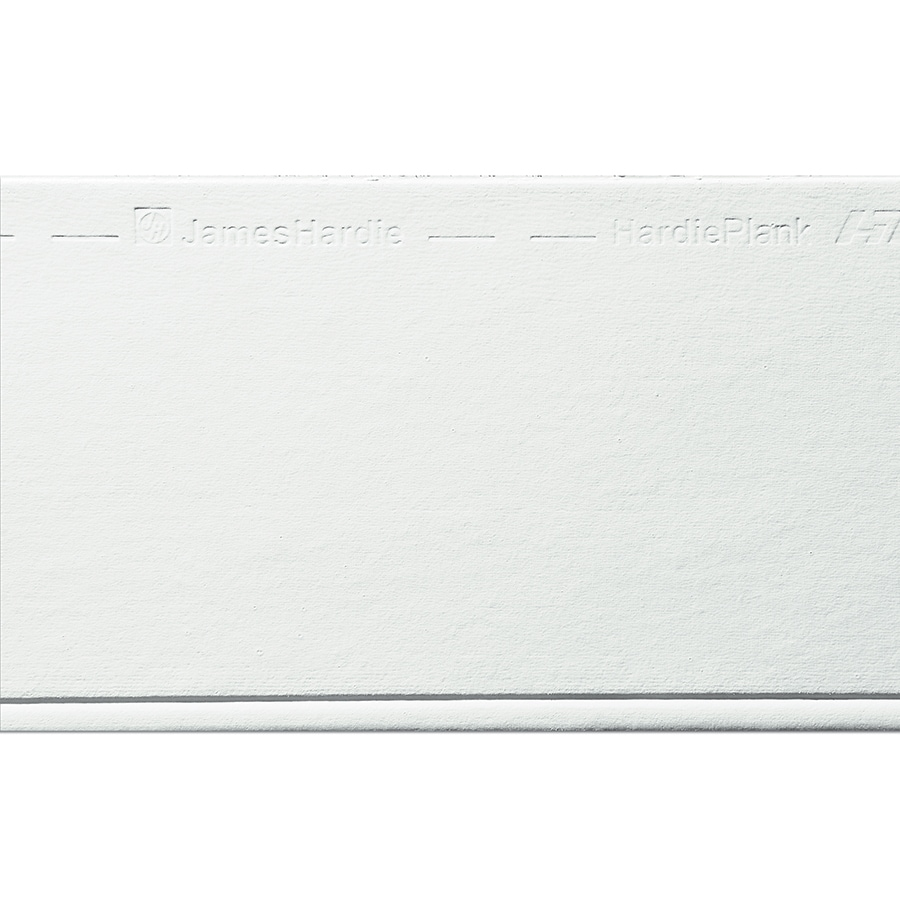 James Hardie HardiePlank Primed Arctic White Beaded Smooth Lap Fiber Cement Siding Panel (Actual: 0.312-in x 8.25-in x 144-in)