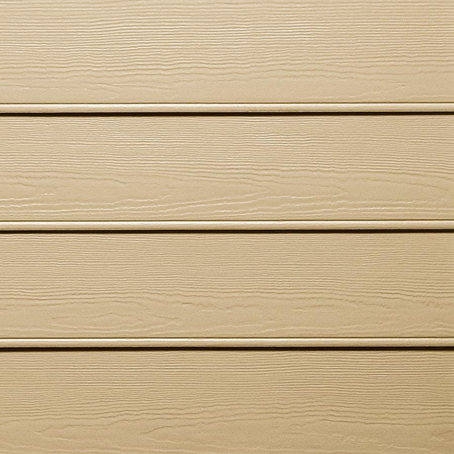 James Hardie HardiePlank Primed Autumn Tan Beaded Woodgrain Lap Fiber Cement Siding Panel (Actual: 0.312-in x 8.25-in x 144-in)