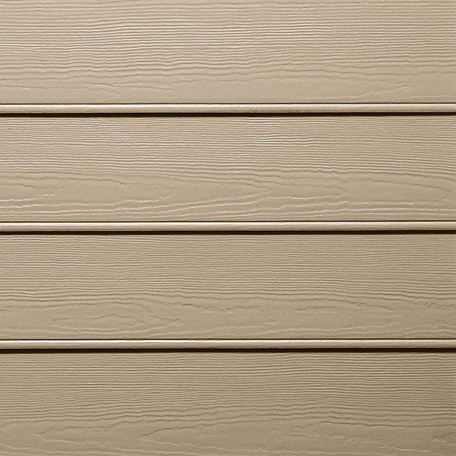 James Hardie HardiePlank Primed Khaki Brown Beaded Woodgrain Lap Fiber Cement Siding Panel (Actual: 0.312-in x 8.25-in x 144-in)