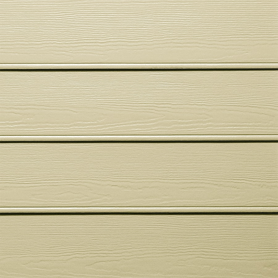 James Hardie HardiePlank Primed Sandstone Beige Beaded Woodgrain Lap Fiber Cement Siding Panel (Actual: 0.312-in x 8.25-in x 144-in)
