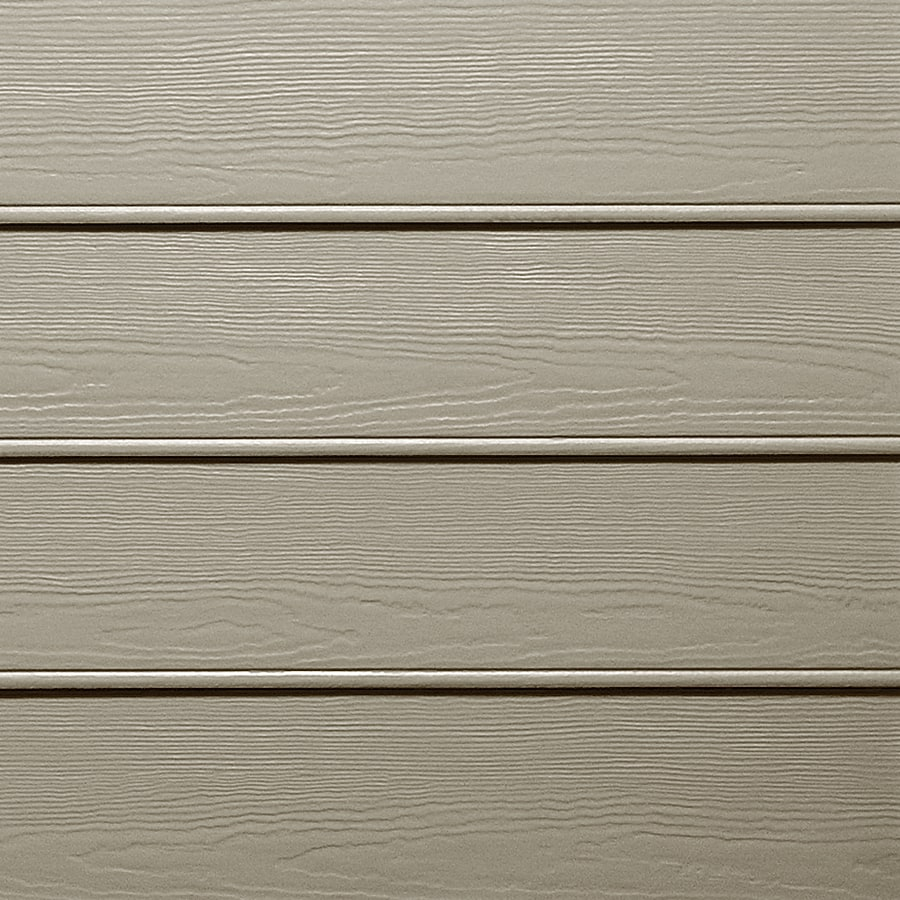 James Hardie (Actual: 0.312-in x 8.25-in x 144-in) HardiePlank Primed Monterey Taupe Beaded Woodgrain Lap Fiber Cement Siding Panel