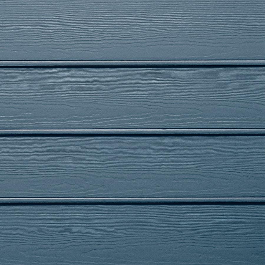 James Hardie HardiePlank Primed Evening Blue Beaded Woodgrain Lap Fiber Cement Siding Panel (Actual: 0.312-in x 8.25-in x 144-in)