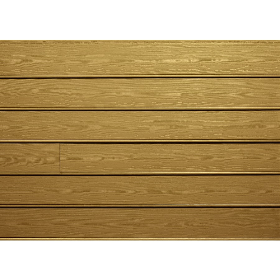 James Hardie HardiePlank Primed Tuscan Gold Beaded Woodgrain Lap Fiber Cement Siding Panel (Actual: 0.312-in x 8.25-in x 144-in)