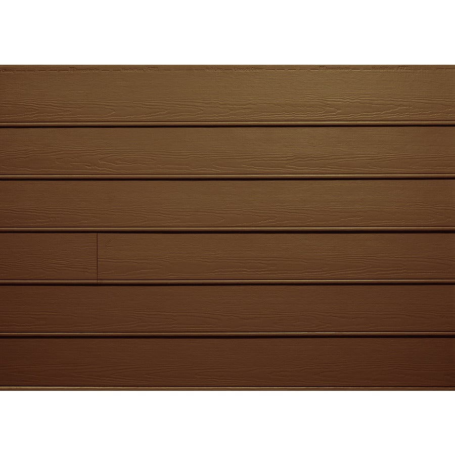 James Hardie HardiePlank Primed Chestnut Brown Beaded Smooth Lap Fiber Cement Siding Panel (Actual: 0.312-in x 8.25-in x 144-in)
