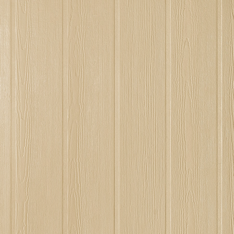 James Hardie HardiePanel Primed Woodgrain Vertical Fiber Cement Siding Panel (Actual: 0.312-in x 48-in x 108-in)