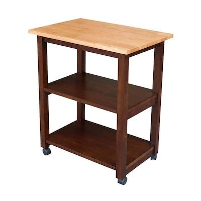 Brown Modern Microwave Cart