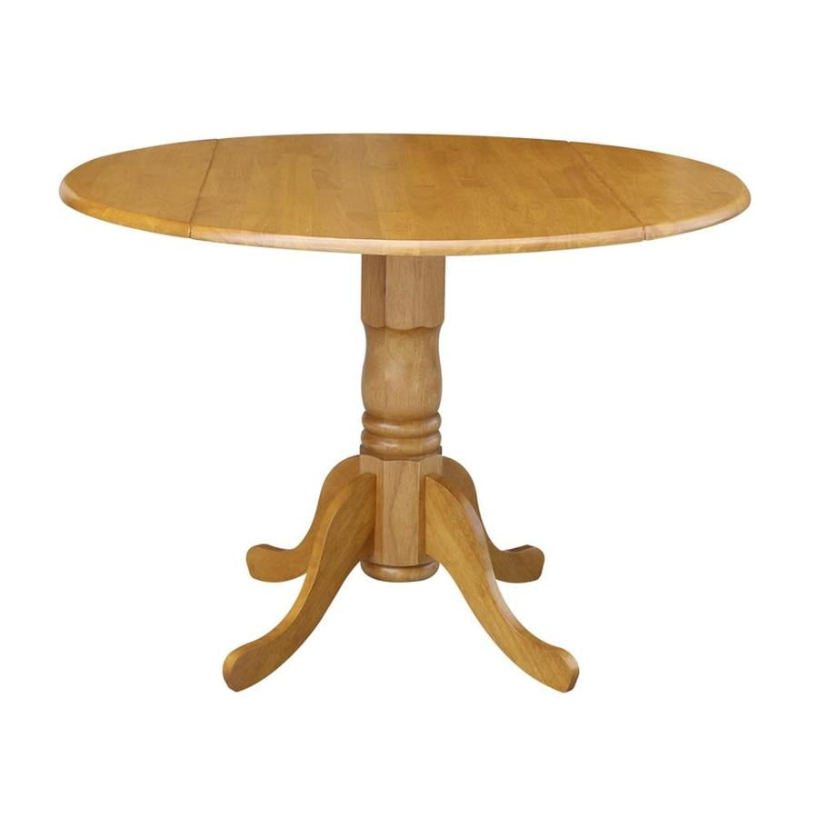 Superieur International Concepts Wood Round Extending Dining Table