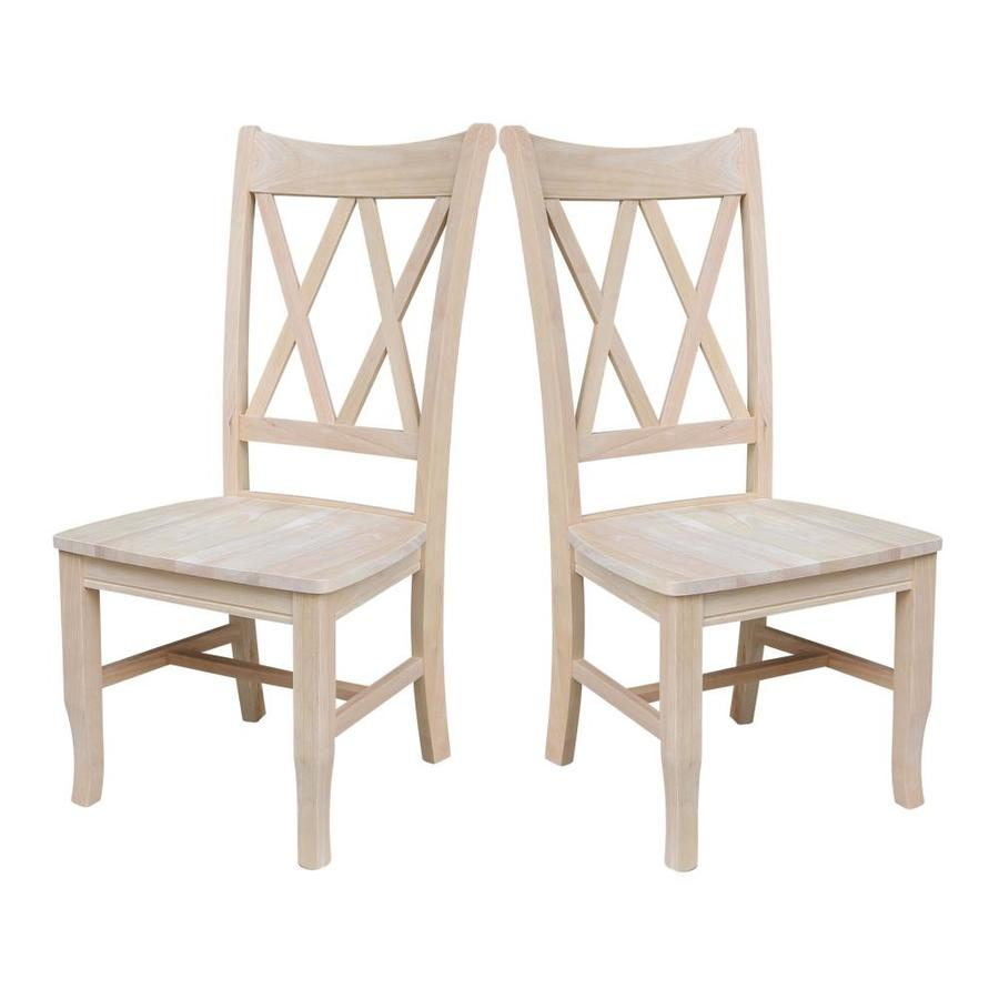 International Concepts Set Of 2 Natural Side Chairs At Lowes Com