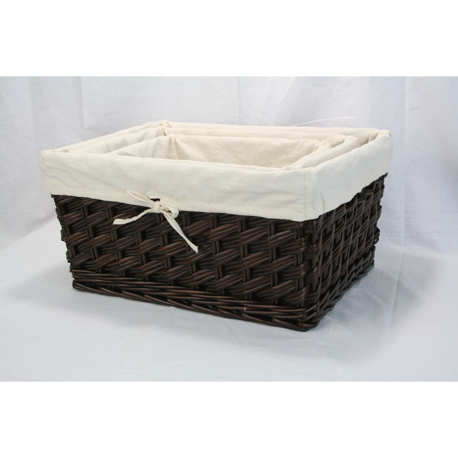 Real Organized Wicker Basket or Clothes Hamper