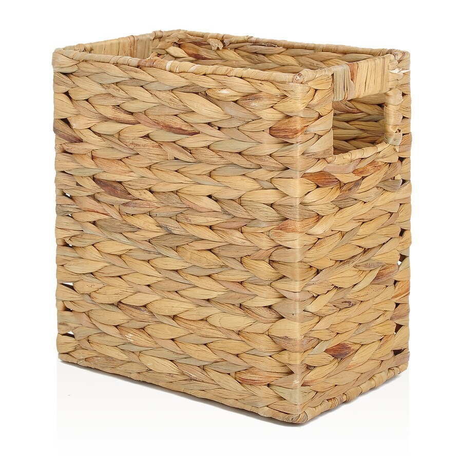 allen + roth 7.15-in W x 11-in H x 10.7-in D Natural Water Hyacinth Basket