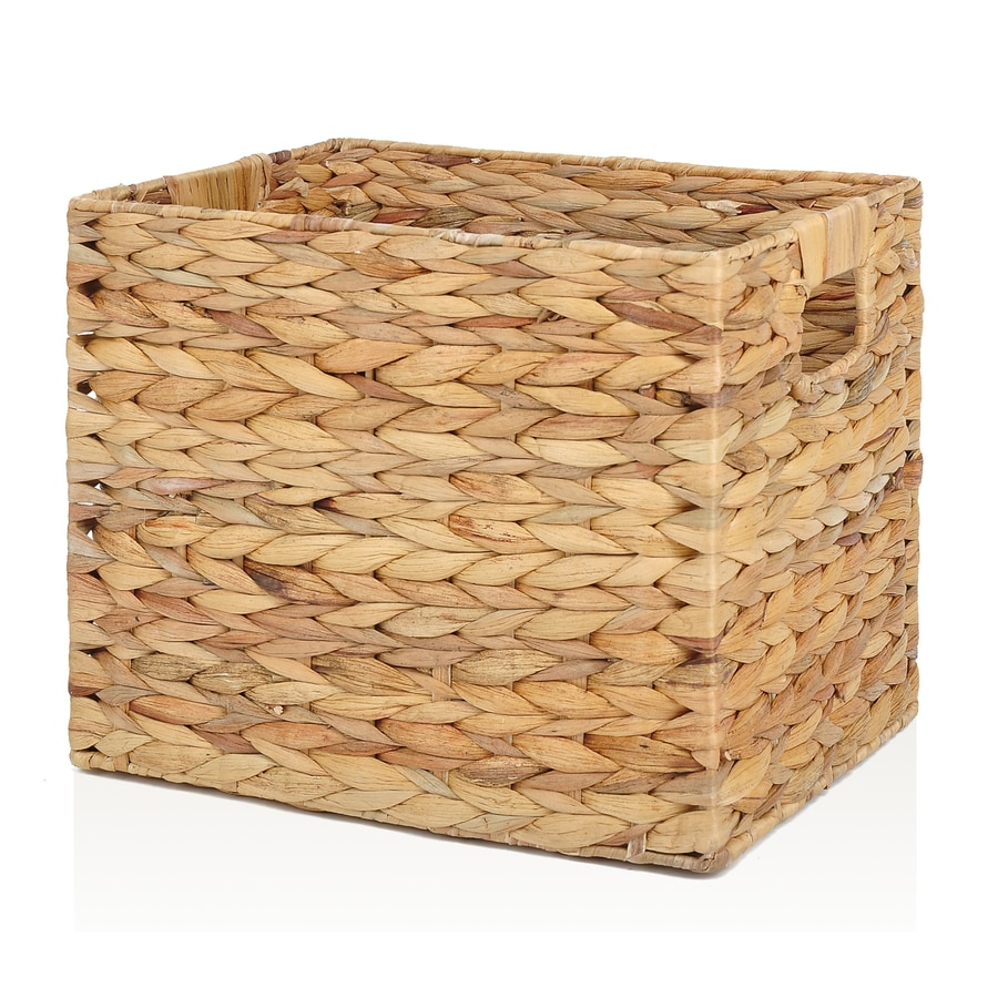 Allen Roth 10 7 In W X 11 H 14 25 D Natural Water Hyacinth Milk Crate