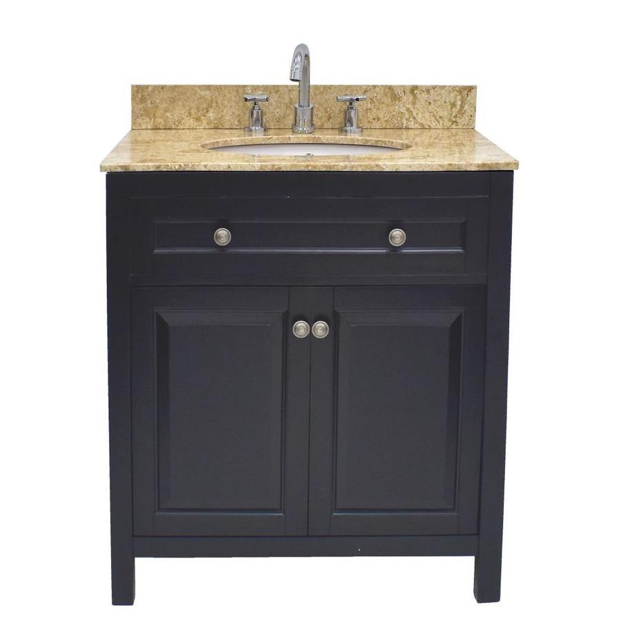 222 fifth wadsworth 30 in brown single sink bathroom - 30 bathroom vanity with marble top ...