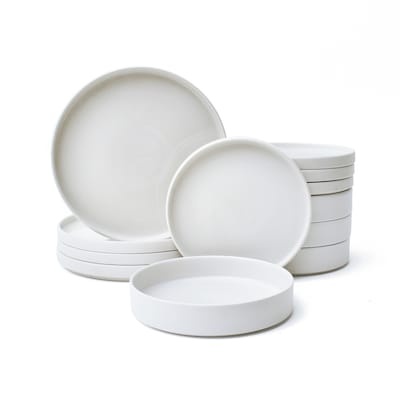 222 Fifth 12 Piece White Dinnerware At Lowes Com