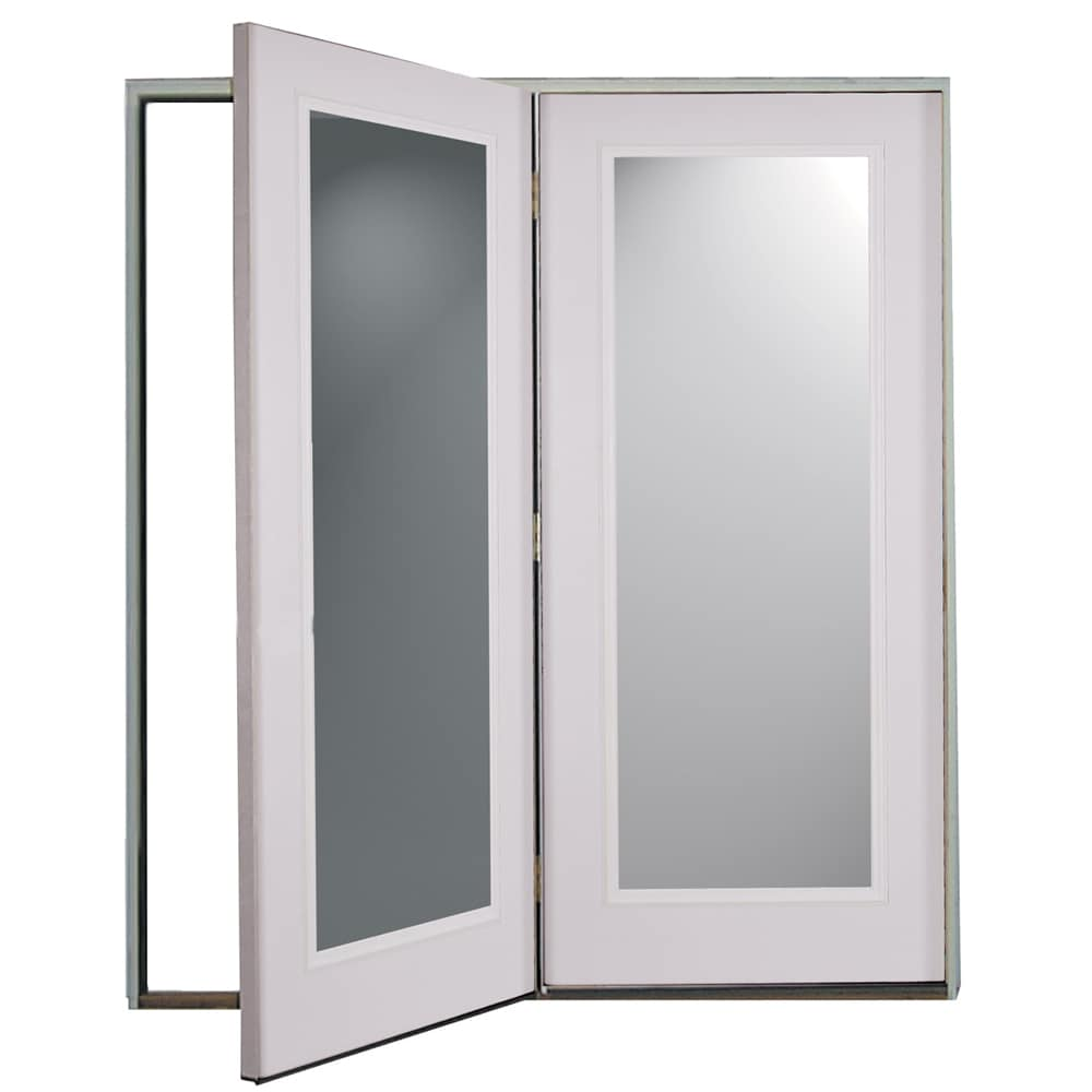 ReliaBilt® 6u0027 ReliaBilt Center Hinged Patio Door Steel 1 Lite Insulated  Glass White