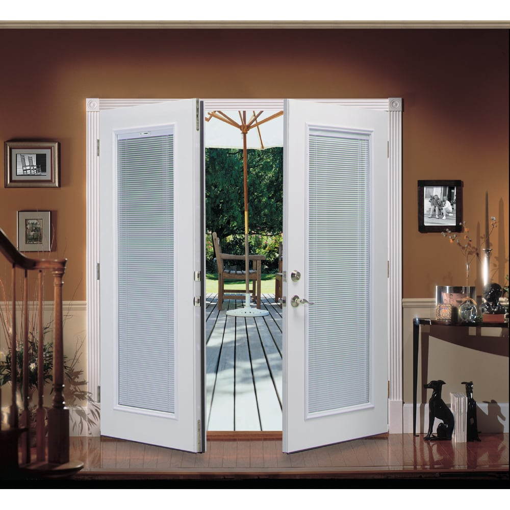 French Exterior Doors Steel: ReliaBilt® 6' ReliaBilt French Patio Door Steel Blinds