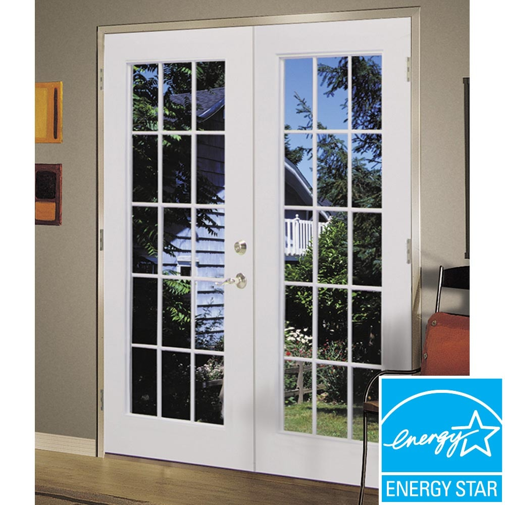 French Exterior Doors Steel: ReliaBilt® 6' ReliaBilt French Patio Door Steel 15-Lite