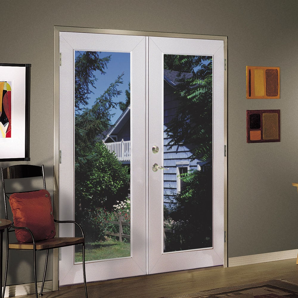 Shop reliabilt 6 39 reliabilt french patio door vinyl 1 for In swing french patio doors
