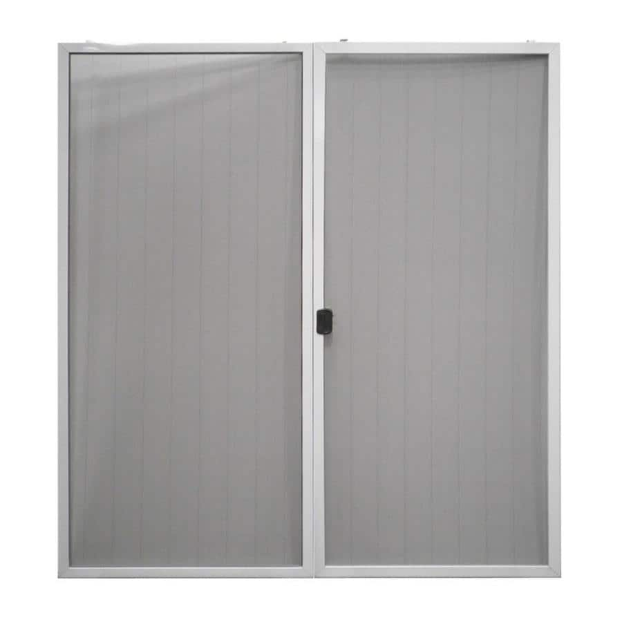 Shop reliabilt aluminum sliding screen door common 72 in for Double sliding screen door