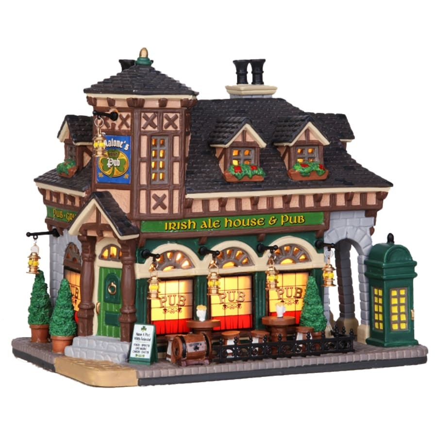 Shop Carole Towne Christmas Porcelain Lighted Malone's Pub at ...
