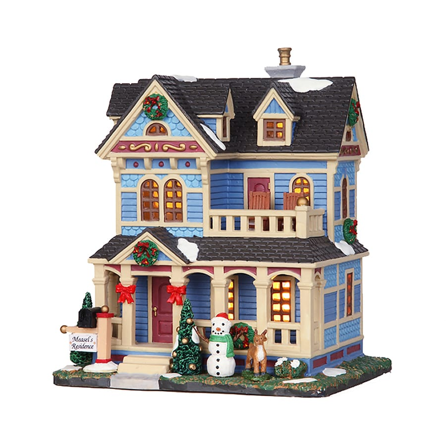 Carole Towne Christmas Porcelain Lighted Measel's Residence Christmas Collectible