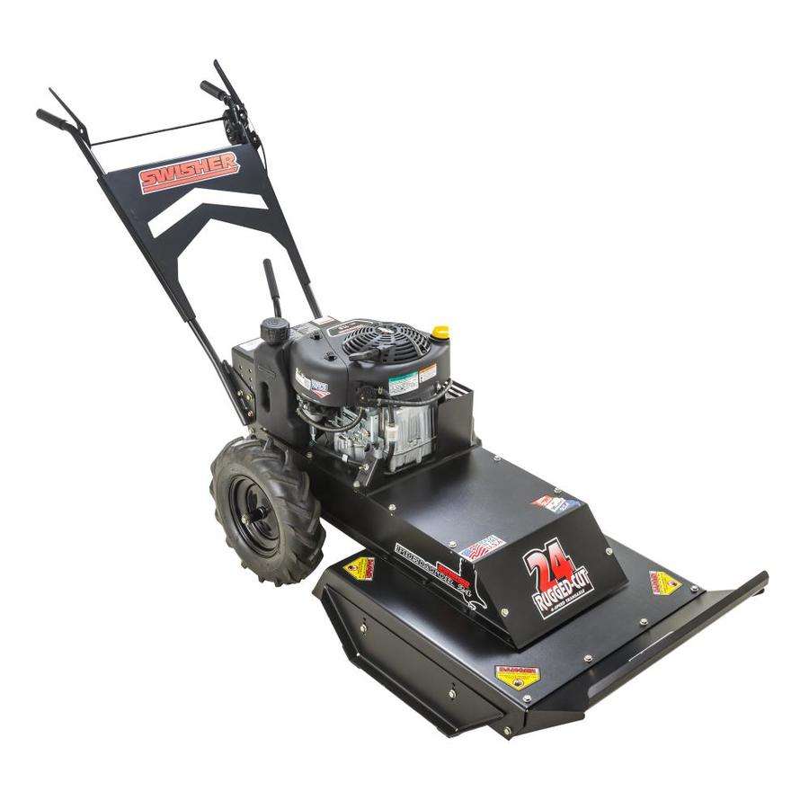 Swisher Predator 344-cc 24-in Self-Propelled Rear Wheel Drive Front Discharge Gas Lawn Mower With