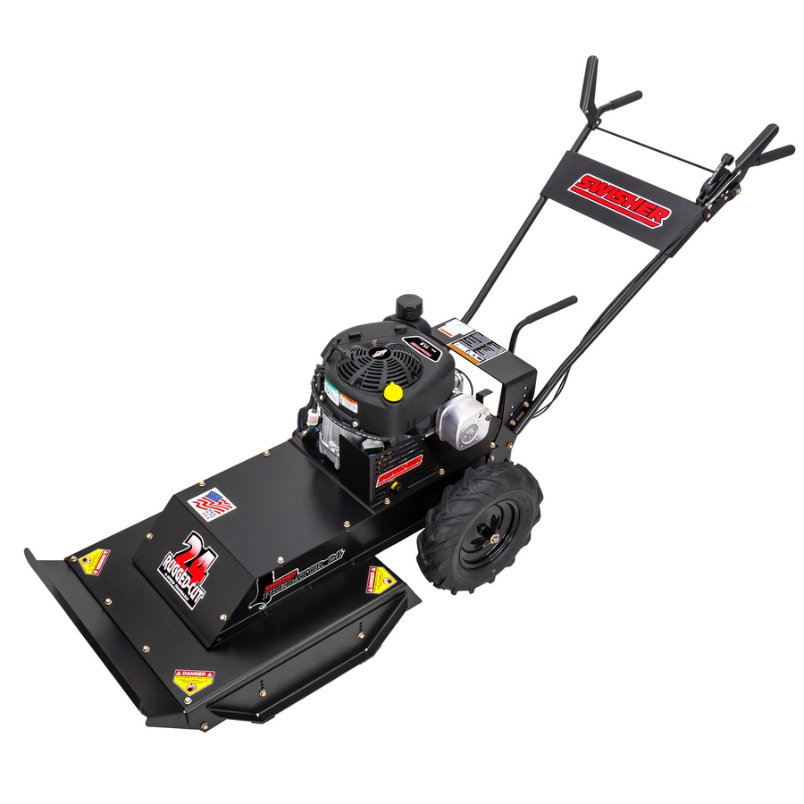 Swisher Predator 344-cc 24-in Key Start Self-Propelled Rear Wheel Drive Front Discharge Gas Lawn Mower With