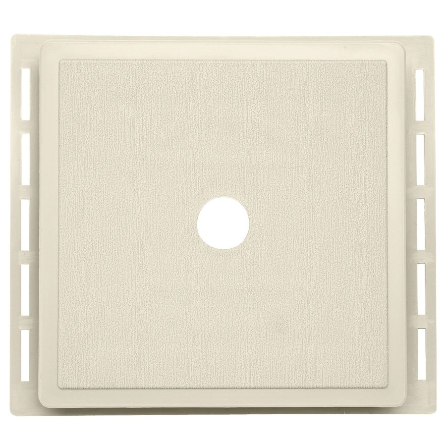 7-in x 7-in Cream Vinyl Universal Mounting Block