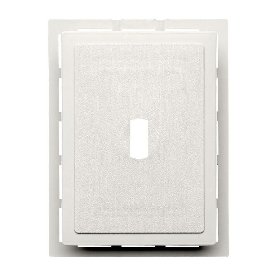 Durabuilt 6.875-in x 5.5-in Linen/Pebble Vinyl Electrical Mounting Block