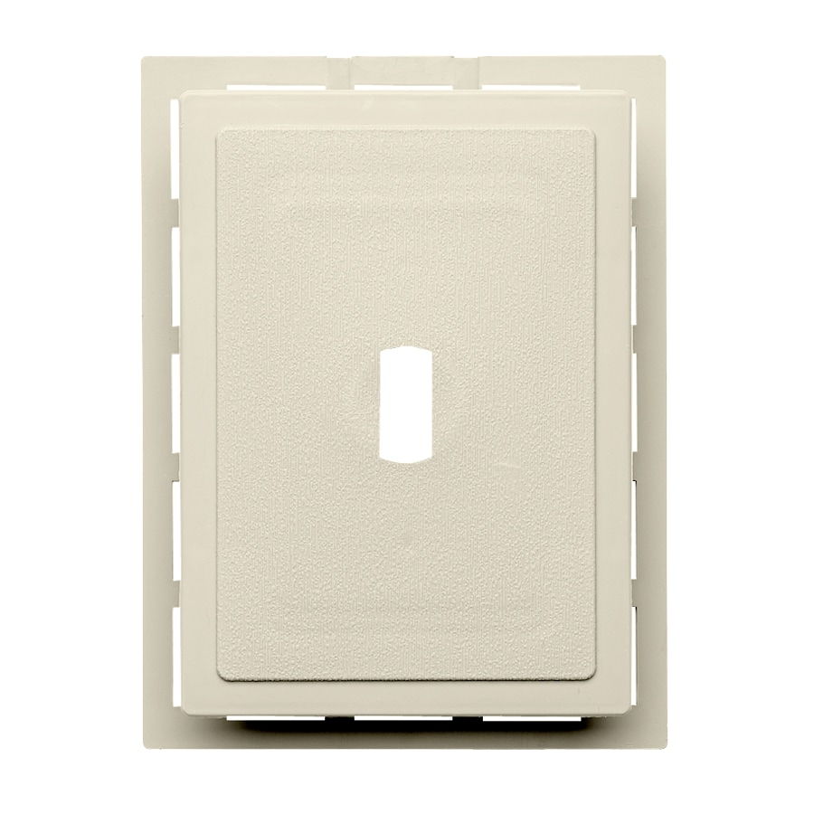 Durabuilt 6.875-in x 5.5-in Cream/Pebble Vinyl Electrical Mounting Block