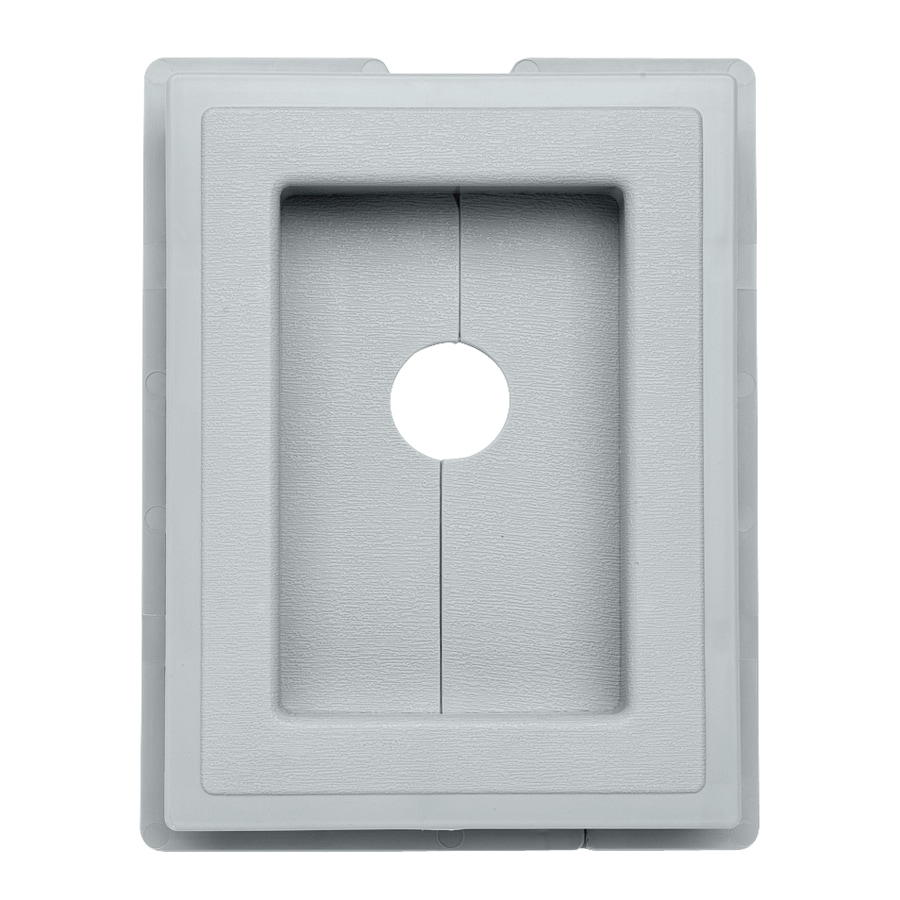 Durabuilt 6.875-in x 5.5-in Cape Blue/Pebble Vinyl Electrical Mounting Block