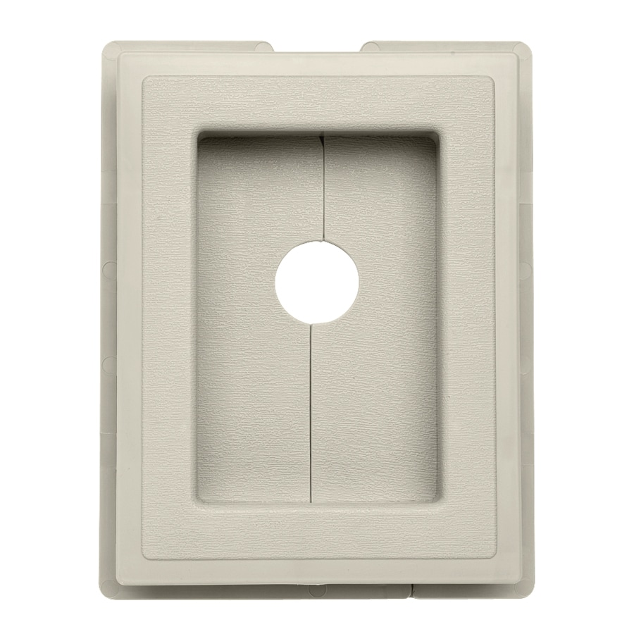 Durabuilt 6.875-in x 5.5-in Almond/Pebble Vinyl Electrical Mounting Block