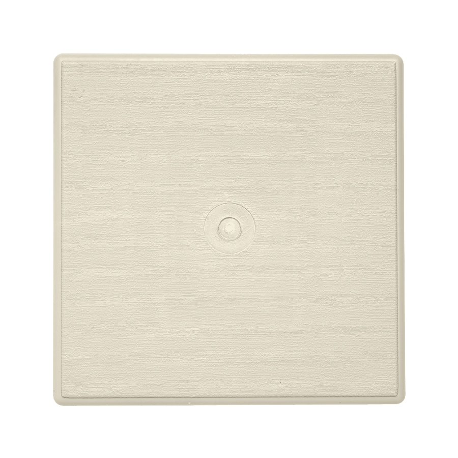 6.625-in x 6.625-in Cream Vinyl Universal Mounting Block