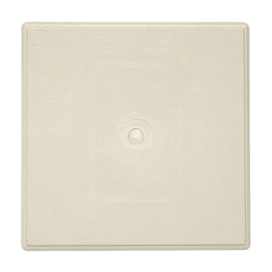 Durabuilt 6.625-in x 6.625-in Cream/Pebble Vinyl Universal Mounting Block