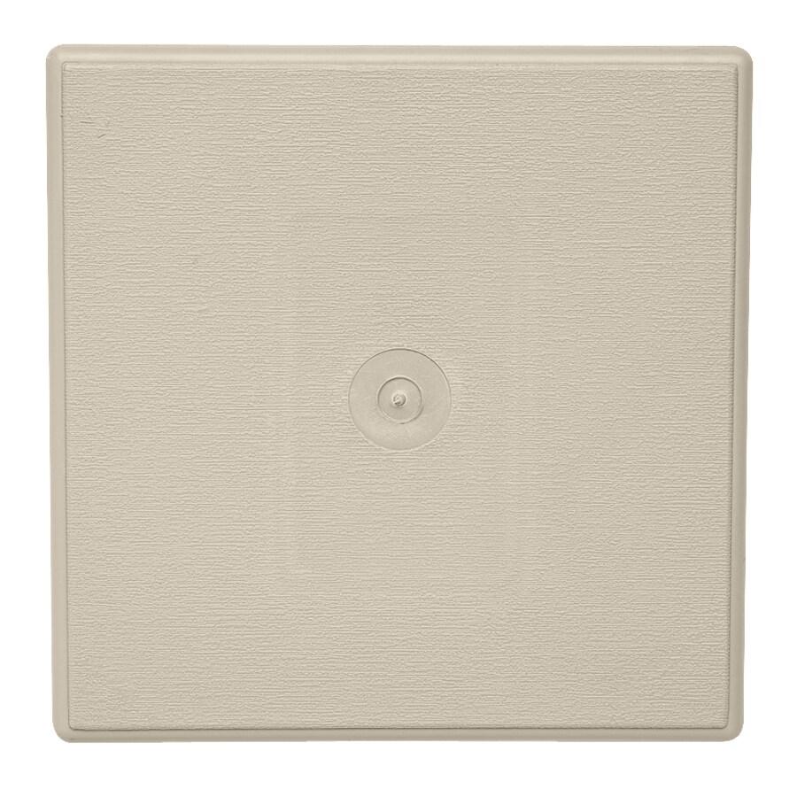 Durabuilt 6.625-in x 6.625-in Tan/Pebble Vinyl Universal Mounting Block
