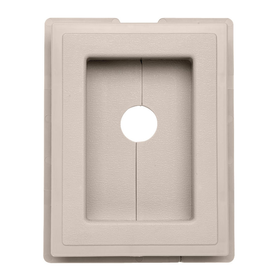 Durabuilt 7.5-in x 5.875-in Beige/Pebble Vinyl Electrical Mounting Block