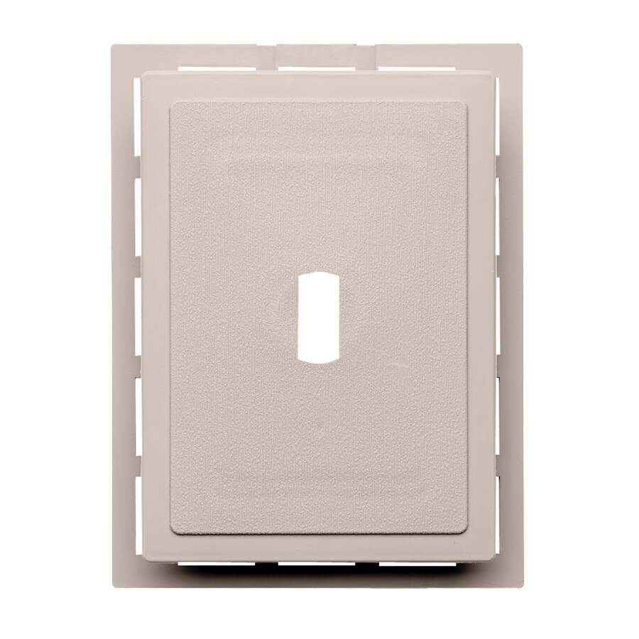 Durabuilt 6.875-in x 5.5-in Beige/Pebble Vinyl Electrical Mounting Block