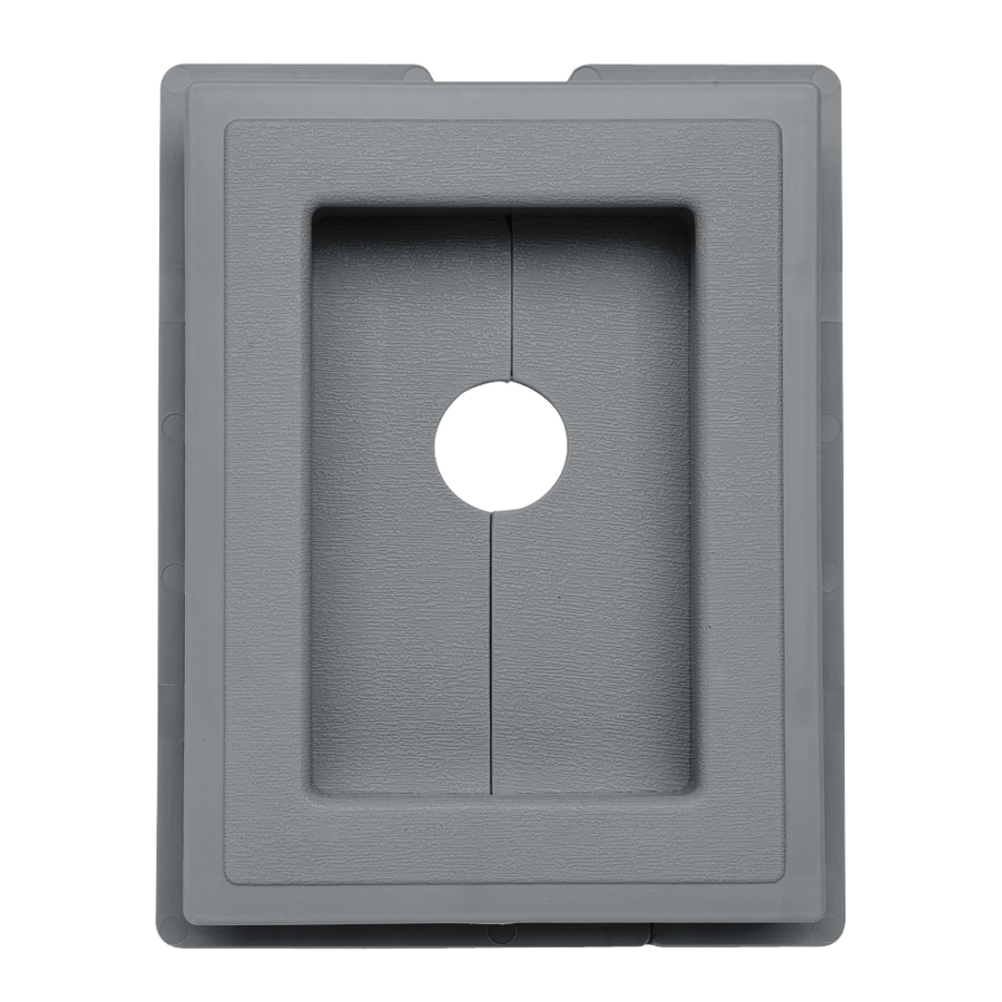 Durabuilt 7.5-in x 5.875-in Wedgewood/Pebble Vinyl Electrical Mounting Block