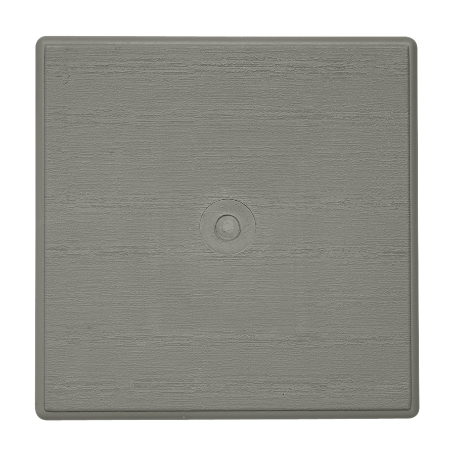 Durabuilt 6.625-in x 6.625-in Sagebrook/Pebble Vinyl Universal Mounting Block