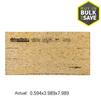 AdvanTech Flooring 23/32 CAT PS2-10 Tongue and Groove OSB