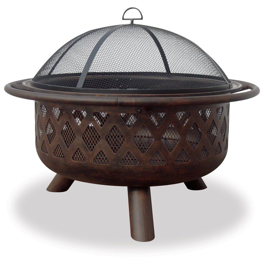 Blue Rhino 33 5 In W Bronze Steel Wood Burning Fire Pit