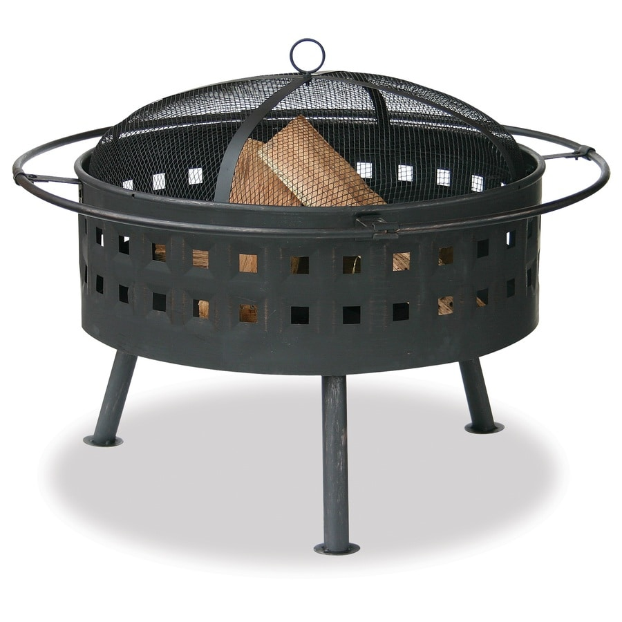 Blue Rhino 32 In W Bronze Steel Wood Burning Fire Pit