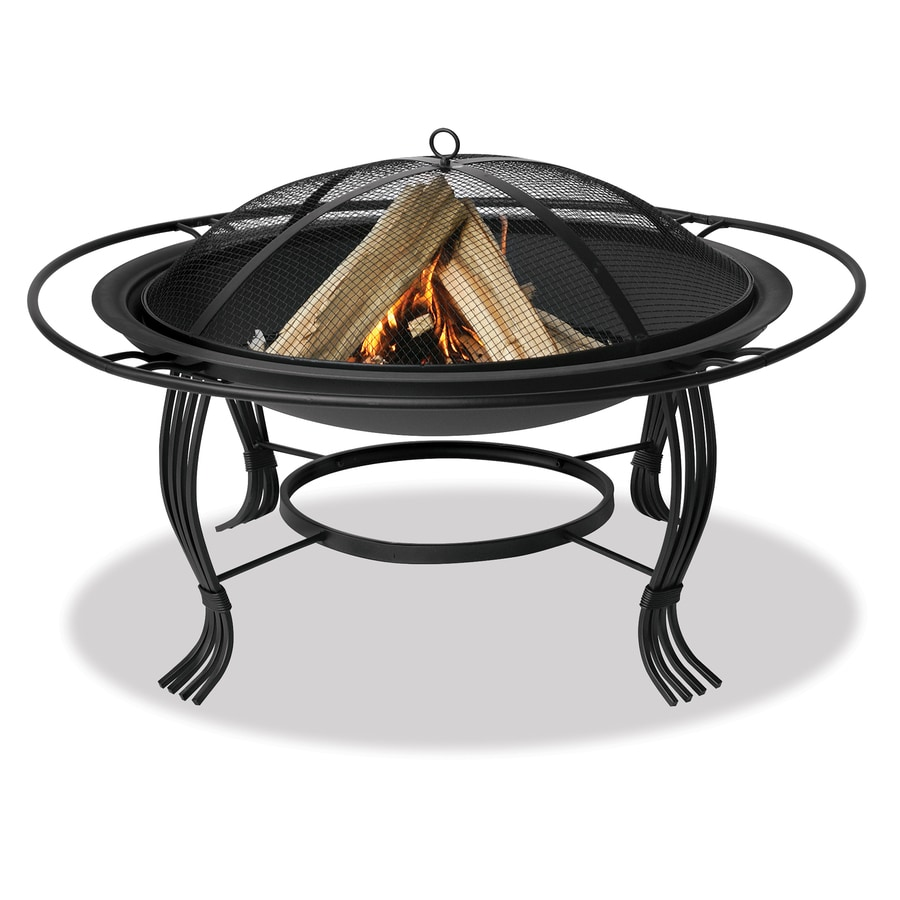 Blue Rhino 34 6 In W Black Steel Wood Burning Fire Pit