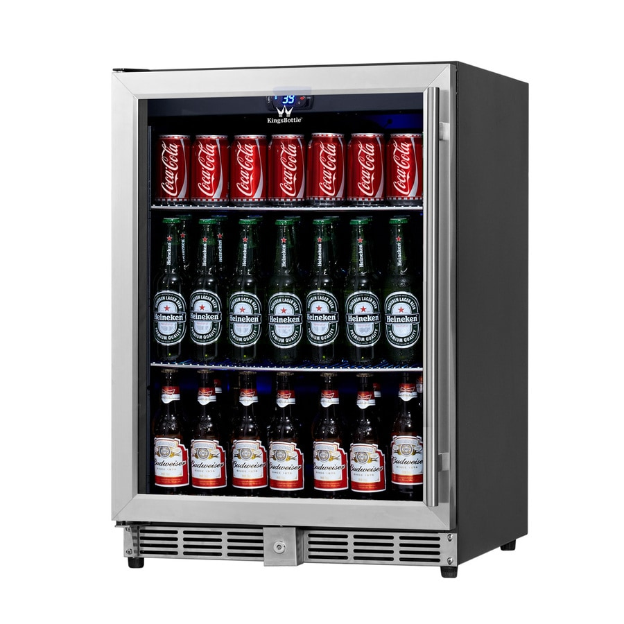 KingsBottle 5.37-cu ft Stainless Built-In/Freestanding Commercial Beverage Center