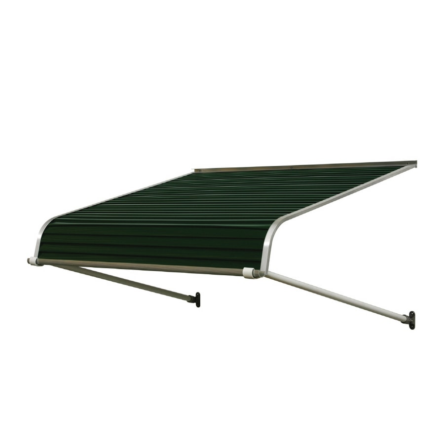 Ordinaire NuImage Awnings 84 In Wide X 48 In Projection Hunter Green Solid Open Slope