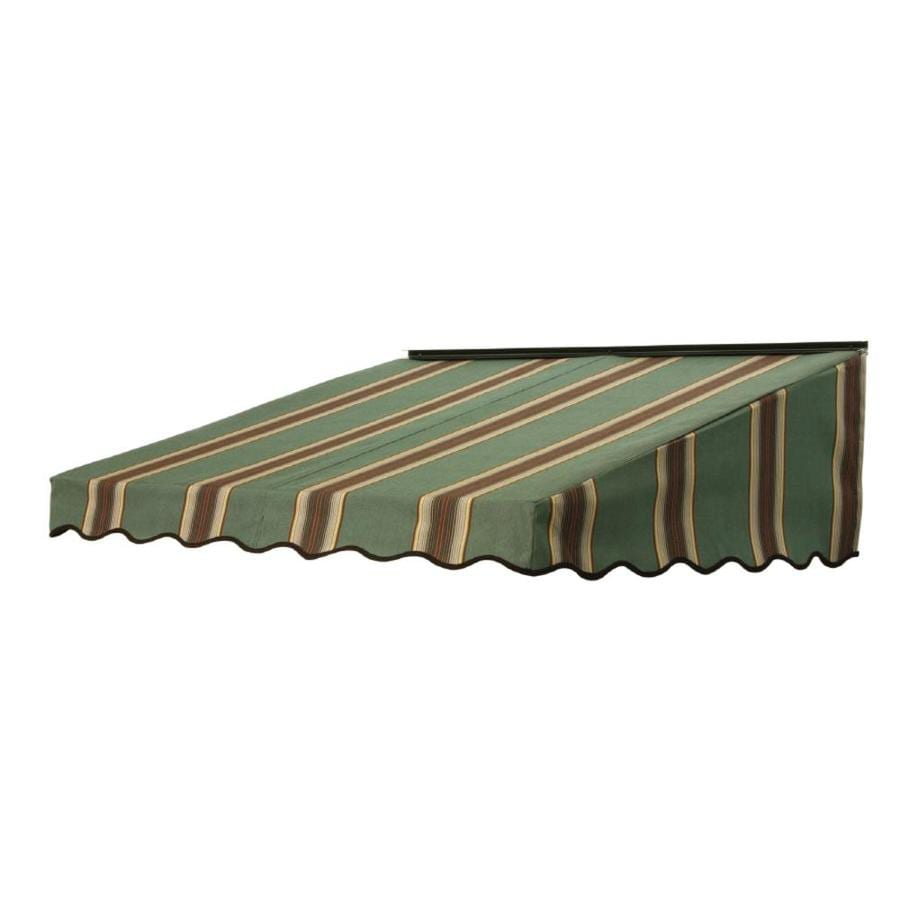 NuImage Awnings 46-in Wide x 41-in Projection Forest Vintage Bar Stripe Slope Door Awning