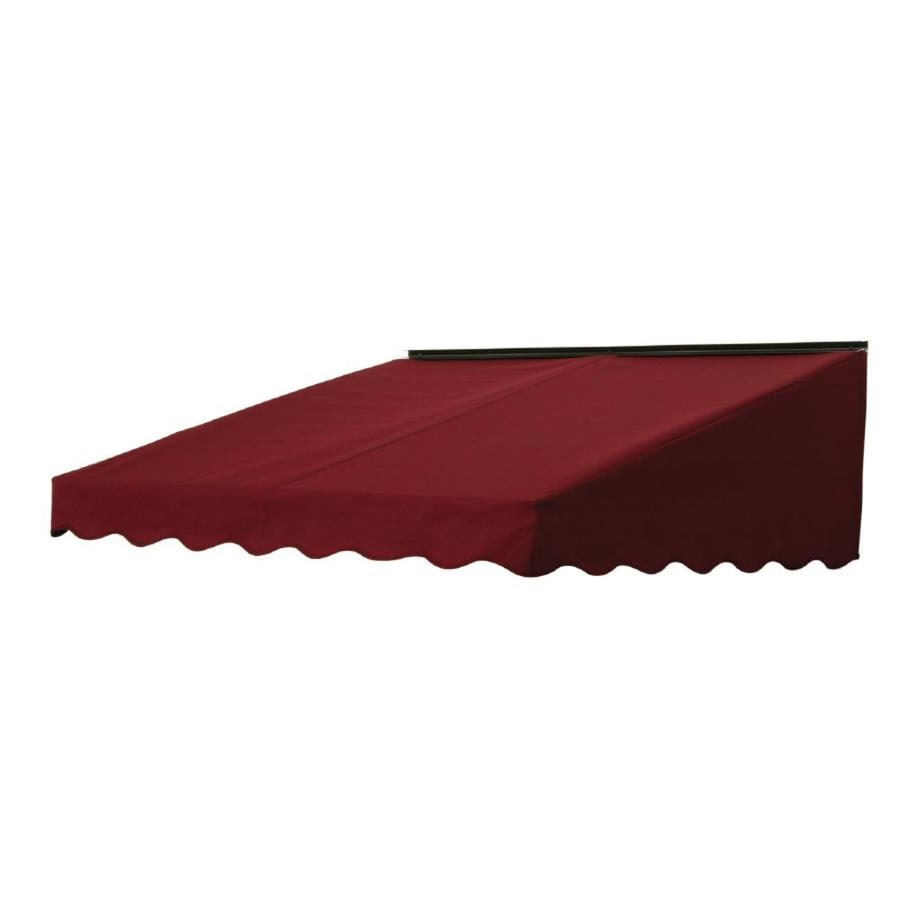 NuImage Awnings 84-in Wide x 41-in Projection Burgundy Solid Slope Door Awning