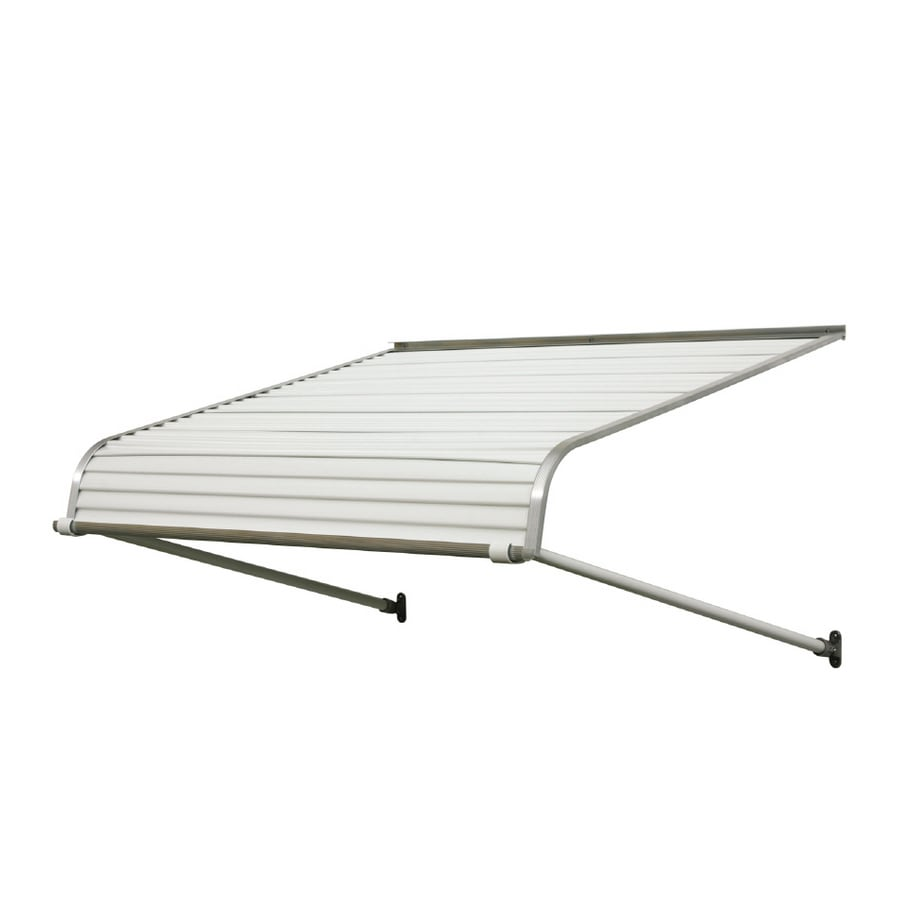 NuImage Awnings 60 In Wide X 42 Projection White Solid Open Slope Door