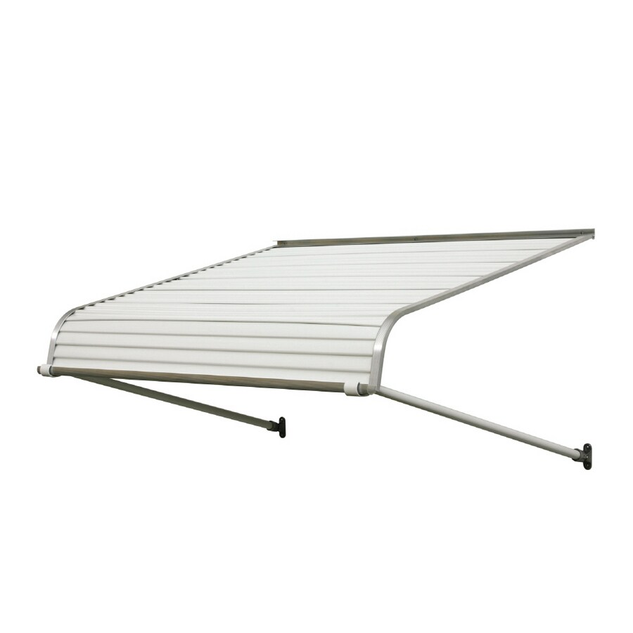 NuImage Awnings 72-in Wide x 42-in Projection White Solid Open Slope Door Awning